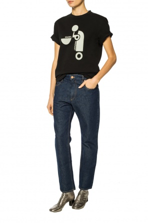 T-shirt with velvet logo od Isabel Marant